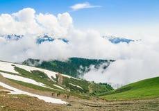 Góra krajobraz, ośrodek narciarski 2014 2018 filiżanki gier olimpijski Russia Sochi zima świat Fotografia Royalty Free
