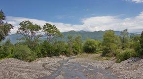 Góra krajobraz od Azerbejdżańskiego Oguz zdjęcia royalty free