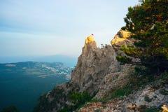 Góra krajobraz od odgórnej góry AI - Petri Obraz Royalty Free