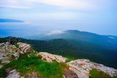 Góra krajobraz od odgórnej góry AI - Petri Fotografia Stock
