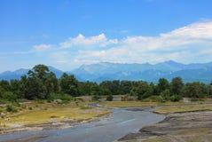 Góra krajobraz strzelający w lato sezonie obrazy royalty free