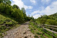 Góra krajobraz w chmurnym letnim dniu Zdjęcia Royalty Free