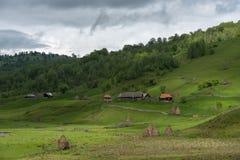 Góra krajobraz w chmurnym letnim dniu Obraz Stock