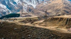 Góra krajobraz w Gruzja obraz royalty free