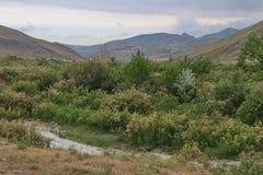 Góra krajobraz w Khizi okręgu fotografia royalty free