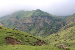 Góra krajobraz w północy Azerbejdżan fotografia stock