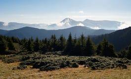 Góra krajobraz w ranku Obraz Royalty Free