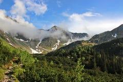 Góra krajobraz w Wysokim Tatras po deszczu Zdjęcia Royalty Free