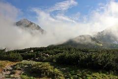 Góra krajobraz w Wysokim Tatras po deszczu Obrazy Stock