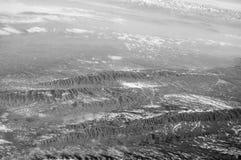 Góra krajobraz, widok z lotu ptaka Ziemska powierzchnia Środowisko ekologia i ochrona podróżomania i podróż Utrzymuje zdjęcie stock