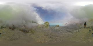 Góra krajobraz z krateru jeziorem vr360 zdjęcie wideo