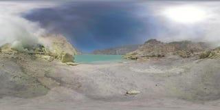 Góra krajobraz z krateru jeziorem vr360 zbiory