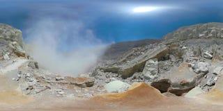 Góra krajobraz z krateru jeziorem vr360 zbiory wideo