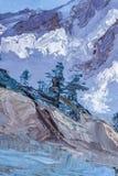 Góra krajobraz z nafcianymi farbami ilustracja wektor