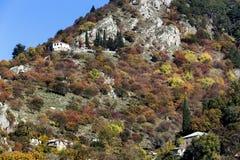 Góra krajobraz z rockowymi formacjami w Epirus, Grecja, Obrazy Stock