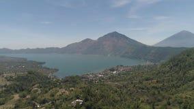 Góra krajobrazowy jezioro Batur i wulkan zbiory