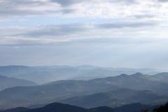 Góra krajobrazowy wczesny poranek Obrazy Stock