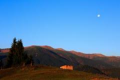 Góra krajobrazowy wczesny poranek Obrazy Royalty Free