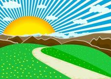 góra krajobrazowy wektor royalty ilustracja