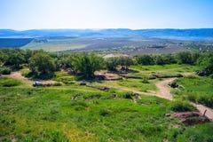 Góra krajobrazowy widok od Sapun góry Fotografia Stock