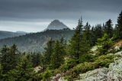 Góra krajobrazy w park narodowy Taganai Fotografia Royalty Free
