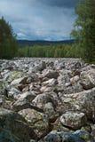 Góra krajobrazy w park narodowy Taganai Obraz Royalty Free
