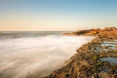 Góra która kończy w morzu †‹â€ ‹Legzira, Maroko zdjęcie royalty free