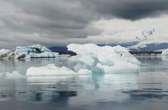 Góra lodowa glacjalny laguny ot Vatnajokull lodowiec, ln Iceland Fotografia Royalty Free