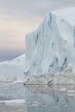 góra lodowa ilulissat zmierzch Obrazy Stock