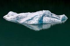 Góra lodowa pławiki w nawadniają Alaska Fotografia Stock