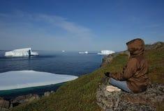 góra lodowa target1429_0_ kobiety Obraz Royalty Free