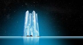 Góra lodowa w Phantasy krajobrazie obrazy stock