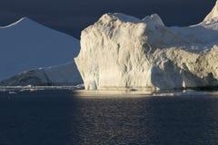 góra lodowa zmierzch Obraz Stock