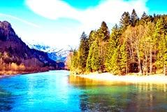 Góra, morze & las, Fotografia Stock