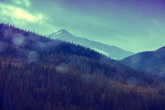 góra nad zmierzchem Obraz Royalty Free