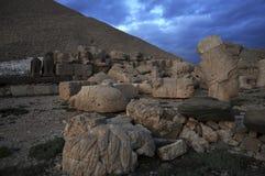 Góra Nemrut Antyczny pogrzeb w terytorium Turcja Fotografia Stock