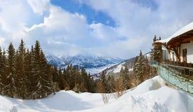 Góra ośrodek narciarski widzii Austria Fotografia Royalty Free