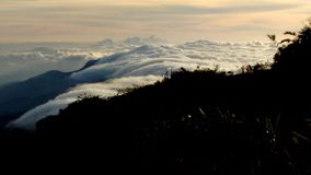 Góra, obrazek w ranku góra Niebo pod naiguata szczytem Obraz Royalty Free