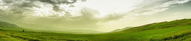 Góra panoramiczny krajobraz Obraz Royalty Free