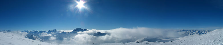 góra panoramiczny widok Fotografia Royalty Free