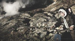 Góra Papandayan Fotografia Royalty Free