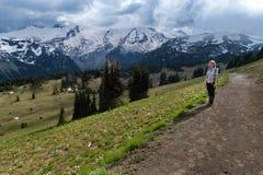 Góra parka narodowego Dżdżyści widoki zdjęcie stock