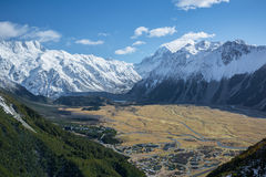Góra parka narodowego Kucbarski widok, Nowa Zelandia Obrazy Stock