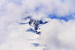 Góra piekarz Pod chmurami od artysty punktu stan washington Fotografia Stock