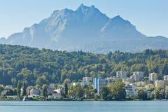 Góra Pilatus na Jeziornej lucernie w Szwajcaria Zdjęcie Royalty Free
