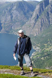 góra podróżnik zdjęcie royalty free