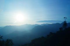 GÓRA PRZY wschodem słońca Obrazy Royalty Free
