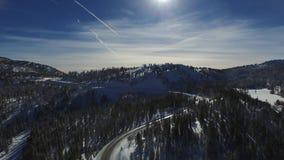 Góra Różany śnieg Fotografia Royalty Free