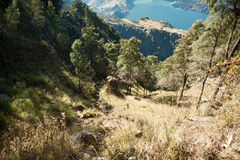 Góra Rinjani trekking Zdjęcia Royalty Free