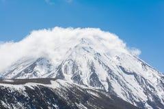 Góra Ruapehu i Tama jeziora krajobrazu Tongariro park narodowy, N Obrazy Royalty Free